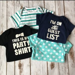 Toddler Old Navy Lot Of 4 Onesies